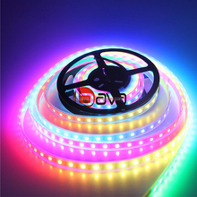 Amazon300 LED strip WS2812B Individually Addressable 5050 RGB LED Strip flexible white PCB Waterproof IP67