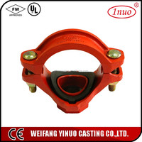 UL FM approved pipe female fitting/screw fitting/threaded mechanical tee