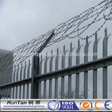High Quality palisade /palisade fence /palisade fence with razor for towers( 20 years professional factory)