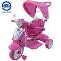 newest design for baby tricycles with push bar,music,mp3 ,seat can 360 rotating,3 in 1