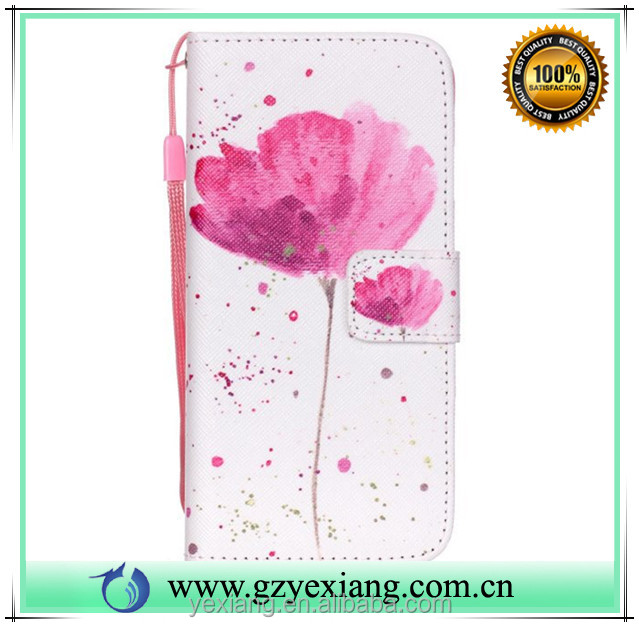Wholesale alibaba pu leather wallet stand case for Samsung galaxy s4 flip back cover case with card slot