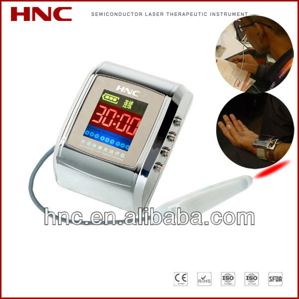 laser treatmnt equipment with Chinese acupuncture to prevent the thromboembolic diseases at home