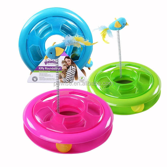 kitty roundabout 26cm cat toy