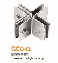 Partition hinge Four side Fixed glass clamp