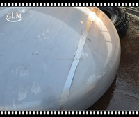 water storage tank for ellipsoidal spherical heads