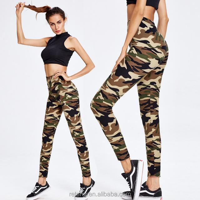 Fitness Clothing Fashion Camouflage Women Yoga Leggings High Waist