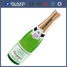 hot-sale PVC inflatable promotional champagne bottle , advertising champagne bottle, inflatable advertising model
