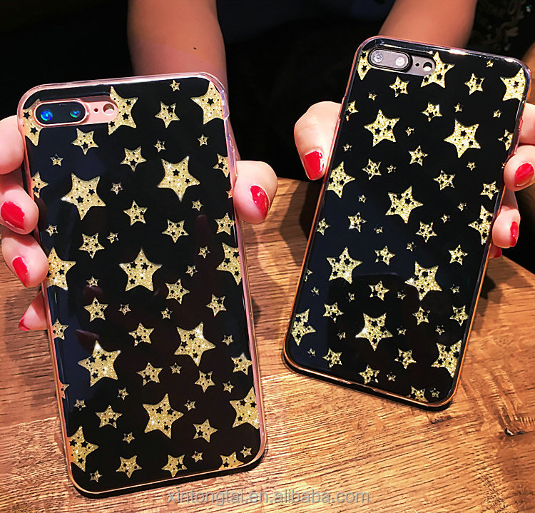 Silicon shining cell phone cover for iphone 6 6s