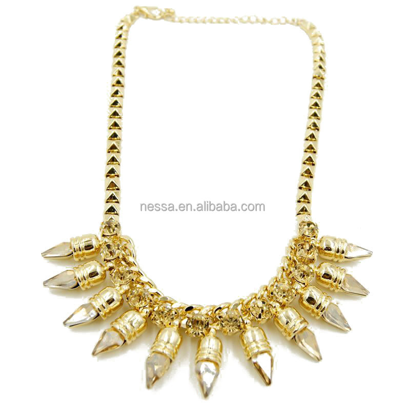 Fashion necklace making charges for gold jewellery wholesale C24-63