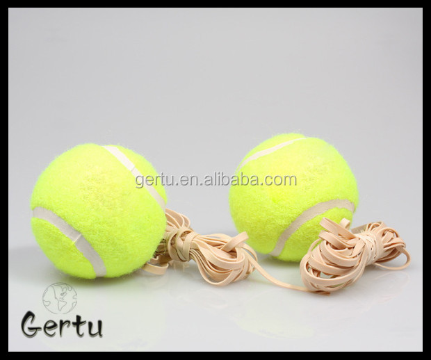 High rebounce tennis ball with elastic string