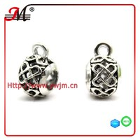 A51002 J&M fashion alloy silver plated charm Unicom hollow beads