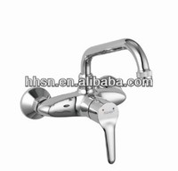 New design pull down single handle kitchen faucet, wall mounted 2 hole sink faucet HH12071