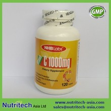 High quality dietary supplements Vitamin C 1000mg tablets with Bioflavonoids & Rose Hips Oem contract manufacturer