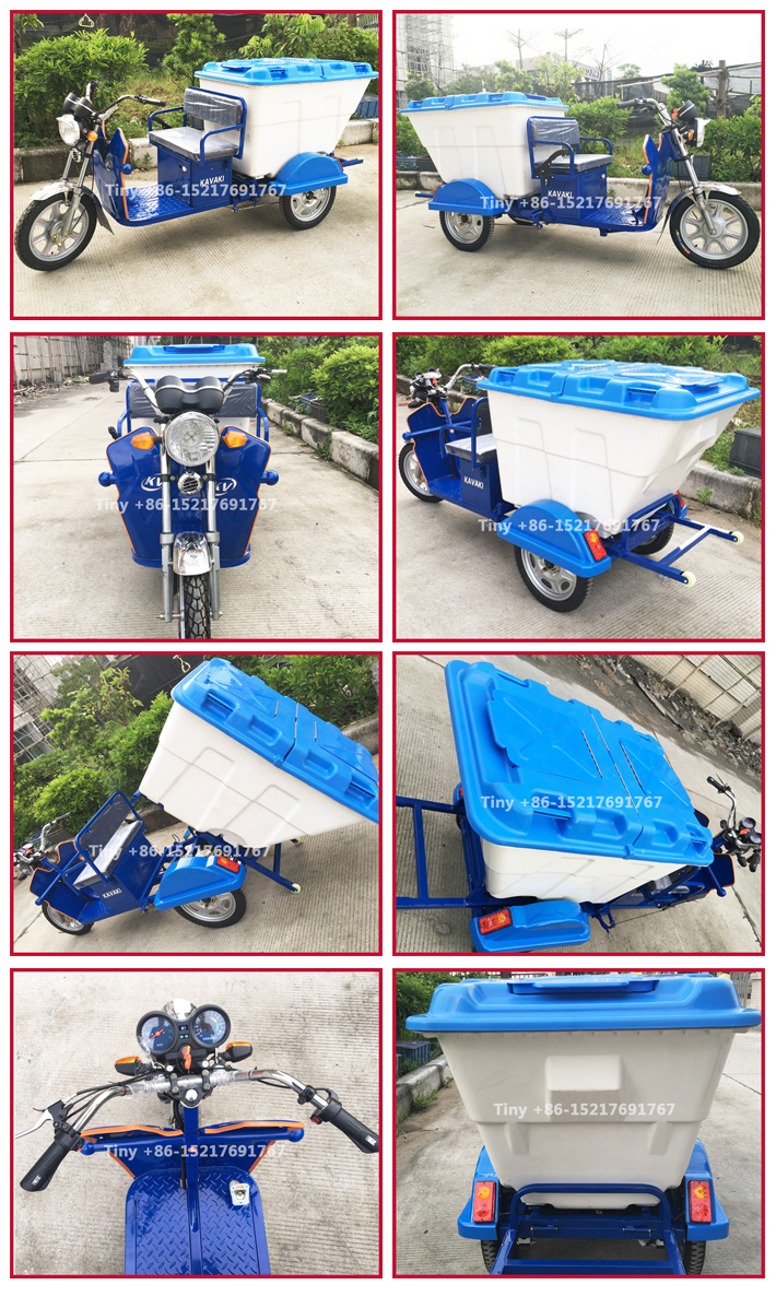 Kavaki Tricycle New Design Electric Power 48V Three Wheel Cleaning Tricycle For Garbage Green Energy