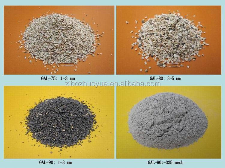 Calcined bauxite clinker