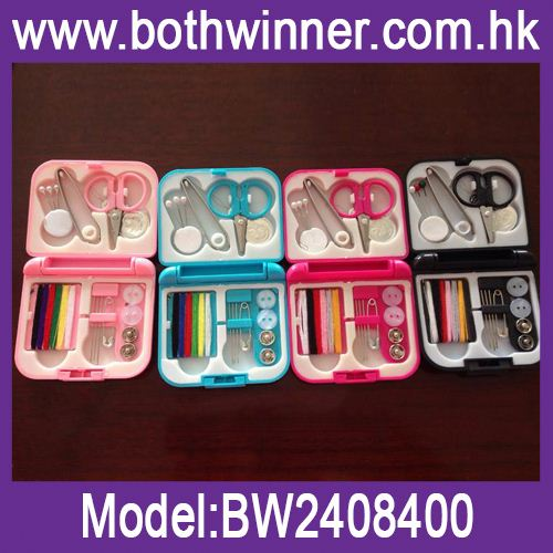 Folding plastic sewing box ,h0tmP hotel sewing kit/travel sewing kit for sale