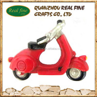 costume red motorcycle shaped tourist 3d souvenir polyresin fridge magnet for decoration home