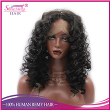 Hot Selling Natural Black Synthetic Wigs Synthetic Lace Front Wig