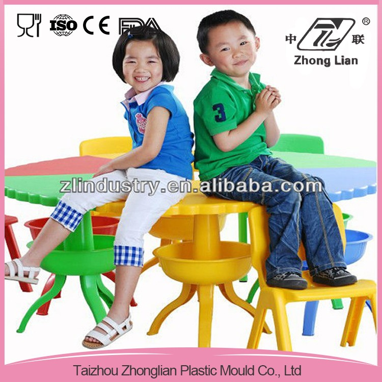 Cheap pp plastic moulded school chair with writing table