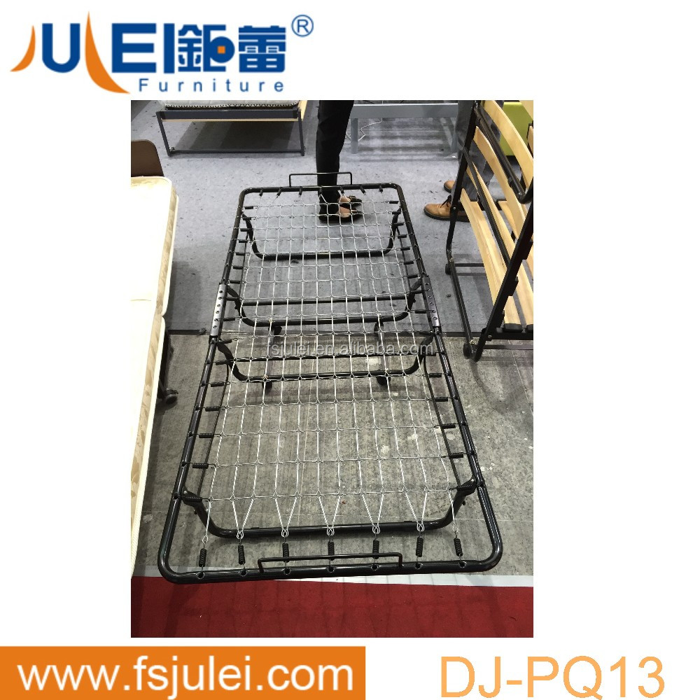 strong support metal hotel single foldable bed frame DJ-PQ13