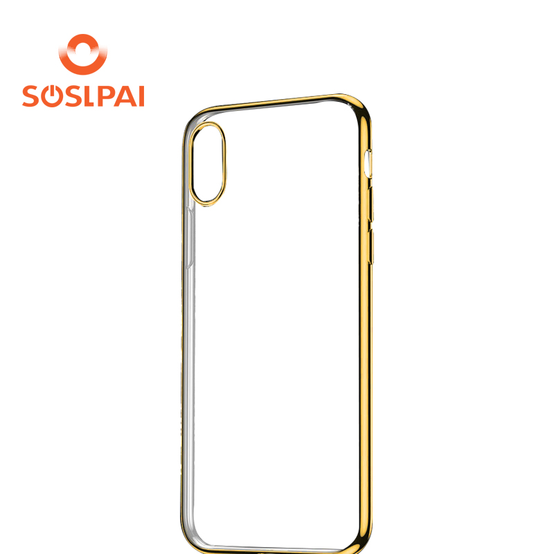 for iphone x crystal clear electroplating tpu case back cover for apple smartphone x case