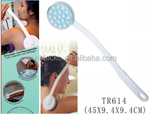 Long handle lotion applicator shower roller massage brush
