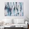 2018 new model High Quality blue and white handmade abstract oil painting for bedroom decor on canvas