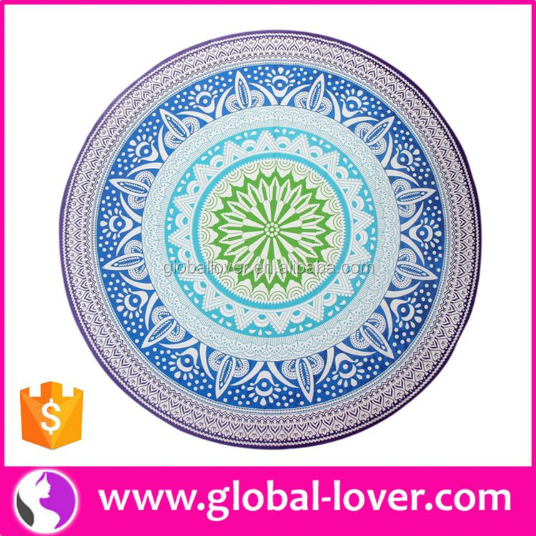 2016 Newest Style Printed Round Shape round beach towels 100% cotton