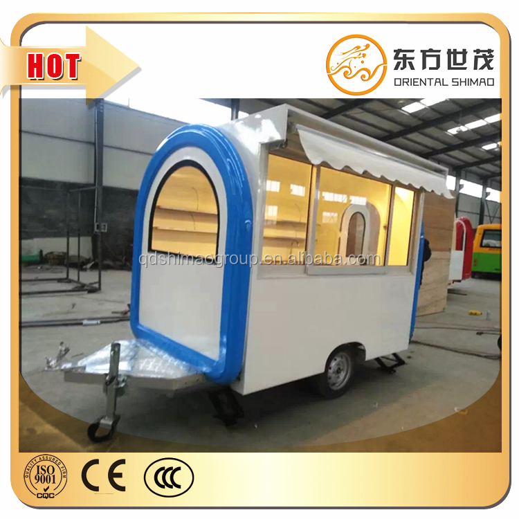 mobile food trucks ice cream trailer hot dog cart <strong>price</strong> for sale