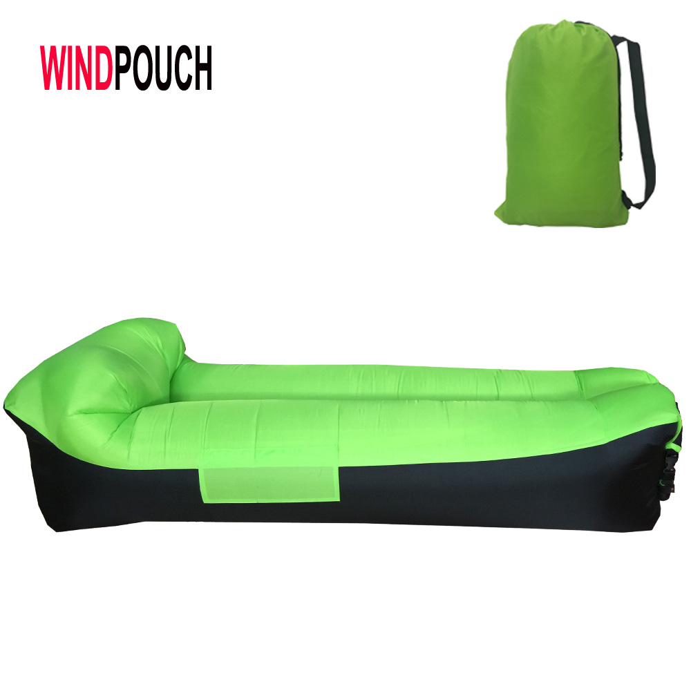 New design Hot sale amazon Inflatable Sofa bed, Air Free Filling Inflatable air Bean Bag