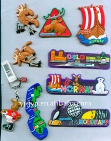 Hot Selling Cheap Promotional cartoon soft PVC Fridge Magnet