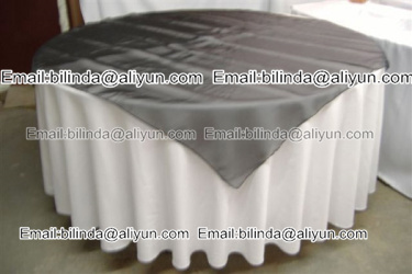 organza table clothes for wedding decoration