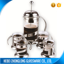 Factory Price Colorful Borosilicate Glass French Coffee Press Tea Maker Pot