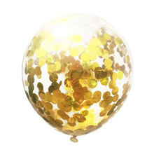 New Release <strong>12</strong>&quot; hot Transparent confetti latex balloon