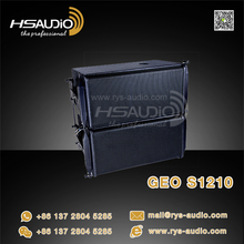 Pro audio powered two way GEO S1210 line array speaker by guangzhou china