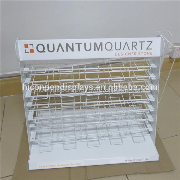 Metal Countertop Retail Showroom White Ceramic Tile Display Rack - Buy ...