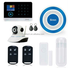 FDL-YB103, WiFi GSM GPRS alarm,Wireless LCD GSM SMS Home Security Burglar House Fire Alarm System