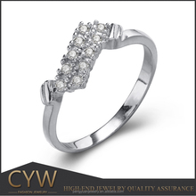CYW 2016 alibaba express high quality 925 sterling silver mirco pave zircon ss925 ring