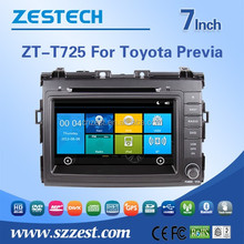 Zestech factory 2 din car radio for Toyota Previa/Estima/Tarago/Canarado car radio dvd player with gps navigation SD/USB charger