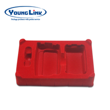 DongGuan Luxury Red Flocking Gift Blister Plastic Packaging Tray supplier