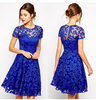 Evening designs knee length short latest formal lace dress patterns