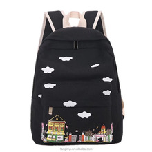 Alibaba china factory wholesale canvas school bags girls bags / junior middle school students backpacks
