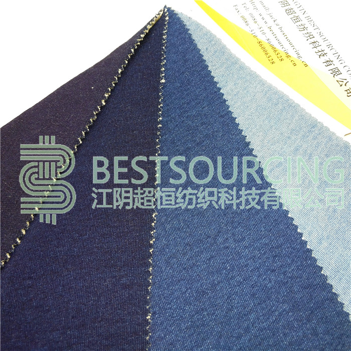 factory hot sales indigo terry knit denim fabric for medical use