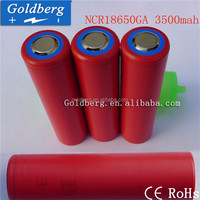High quality li-ion battery cell 18650 Lithium ion battery Sanyo NCR18650GA 3500mAh