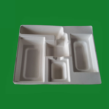 Thermoformed liner hot press pulp tray, custom paper inner box
