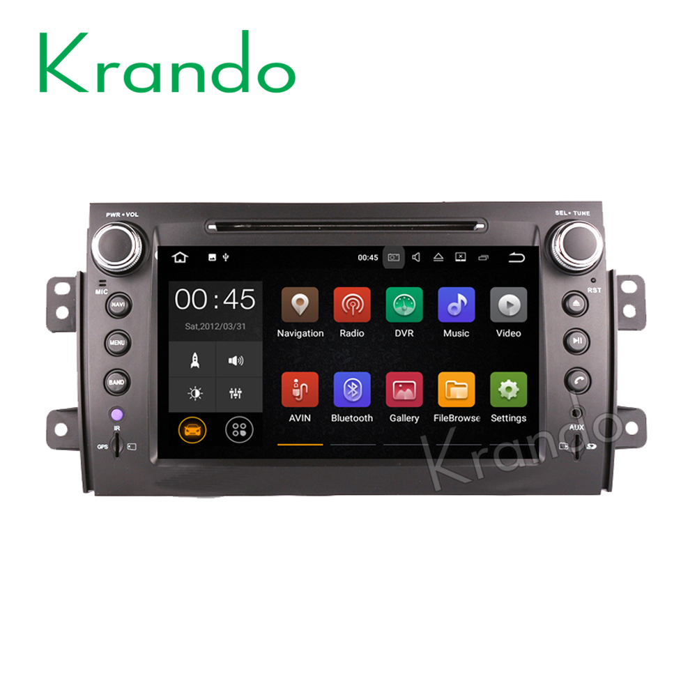 "Krando Android 7.1 8"" car dvd navigation player for SUZUKI SX4 2006-2012 multimedia gps system Bluetooth wifi dab+ KD-SS844"
