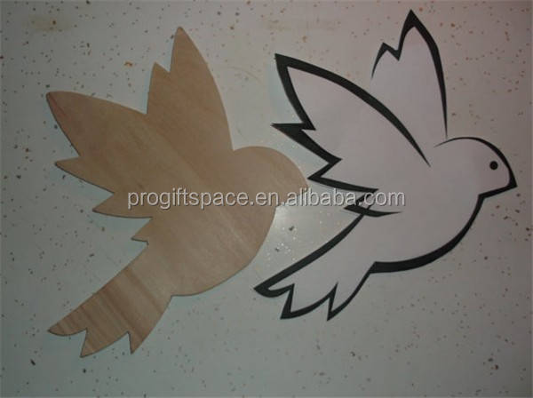 Hot sell Unfinished Wood Wooden Bird Flying shape made in China