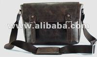 "Just Leather 12"" Messenger Bag Shoulder Laptop Bag Distressed Leather Cardholder"