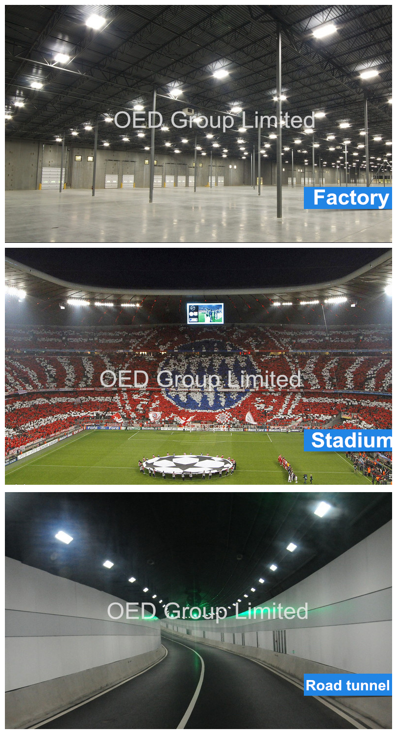 IP66 outdoor 250w module LED tunnel light for stadium lighting