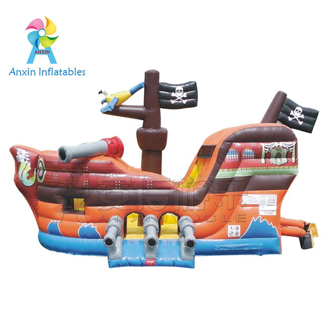 Party rental jumping inflatables Cheap big used commercial pirate ship bounce house for sale